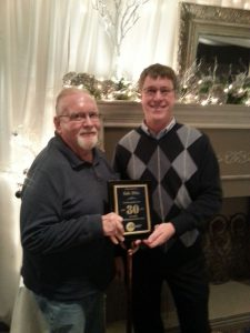 Gale being recognized for 30 years of employment in 2013
