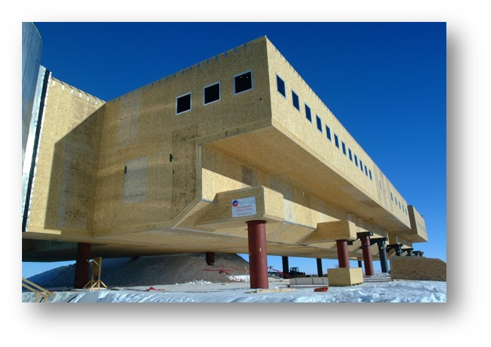 Enercept SIPS building at the South Pole